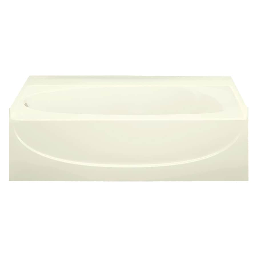 Sterling Acclaim Biscuit Vikrell Oval In Rectangle Skirted Bathtub with Left-Hand Drain (Common: 30-in x 60-in; Actual: 15-in x 30.5000-in x 60.2500-in)