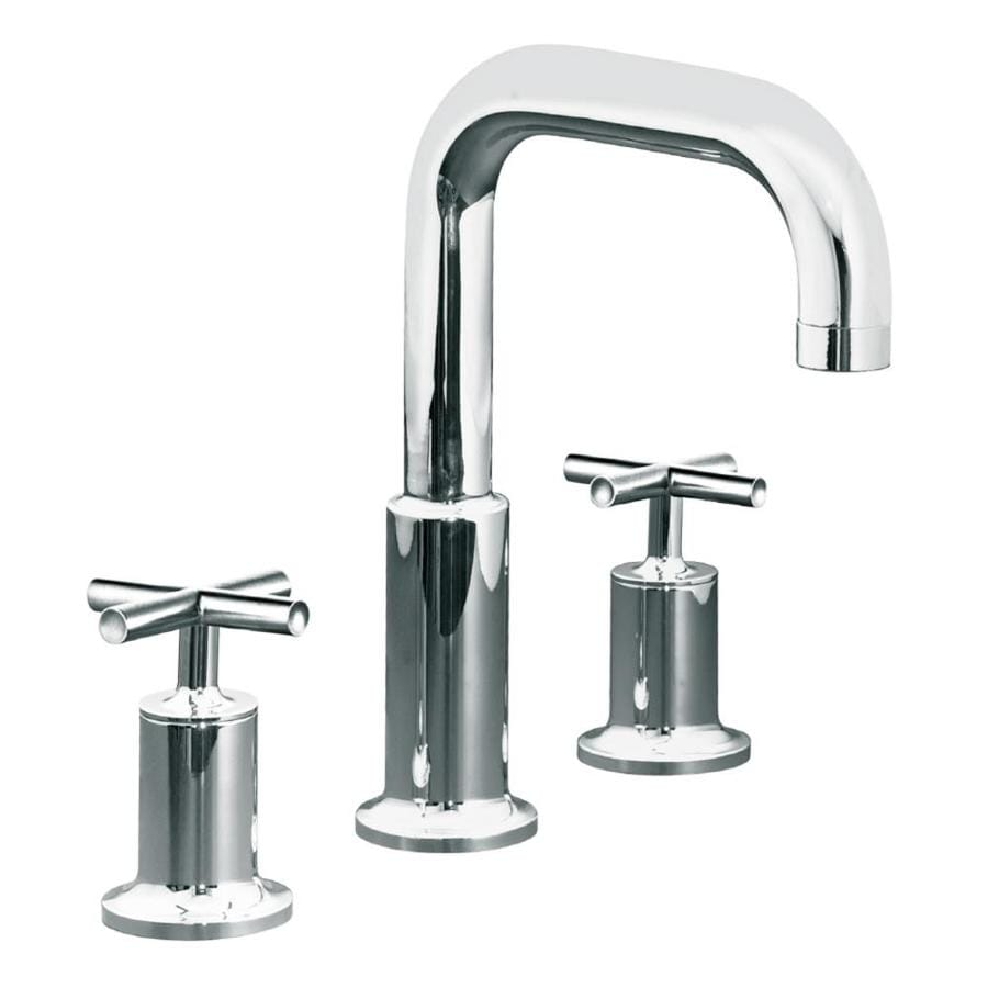 KOHLER Purist Polished Chrome 2-Handle Fixed Deck Mount Bathtub Faucet