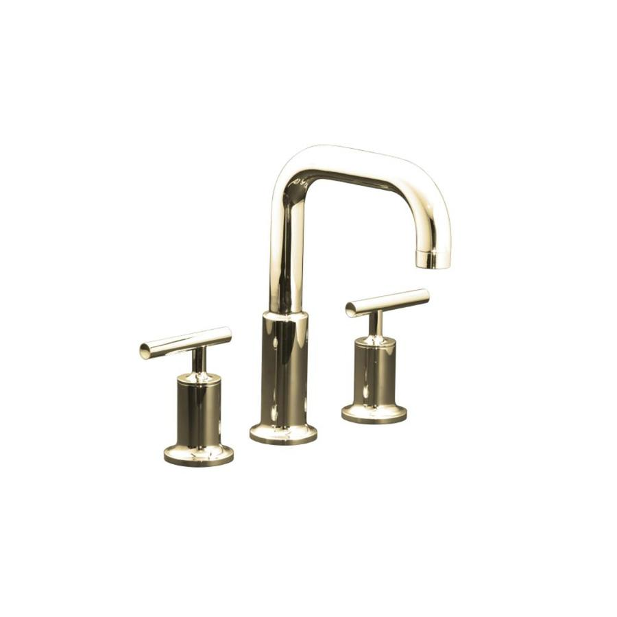 KOHLER Purist Vibrant Polished Nickel 2-Handle Deck Mount Bathtub Faucet