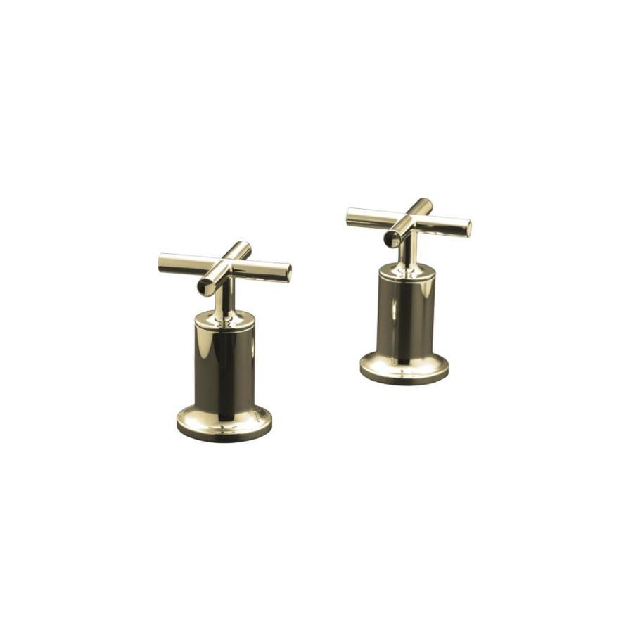 KOHLER Purist Vibrant Polished Nickel 2-Handle Fixed Deck Mount Bathtub Faucet