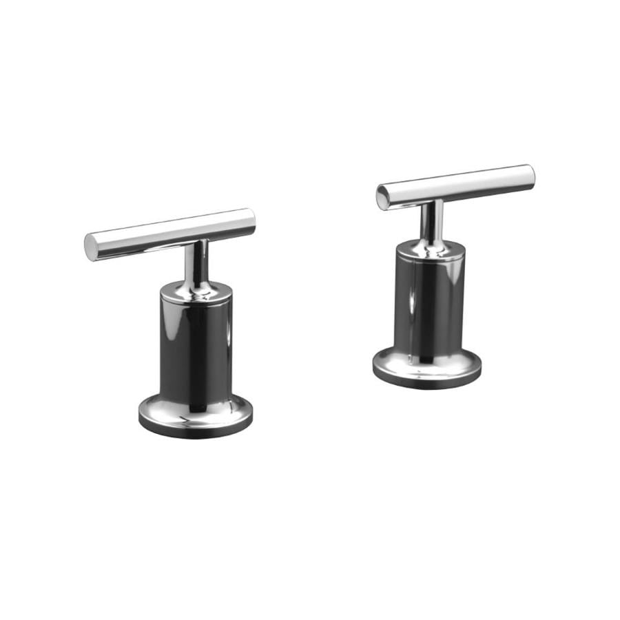 KOHLER Purist Polished Chrome 2-Handle Deck Mount Bathtub Faucet