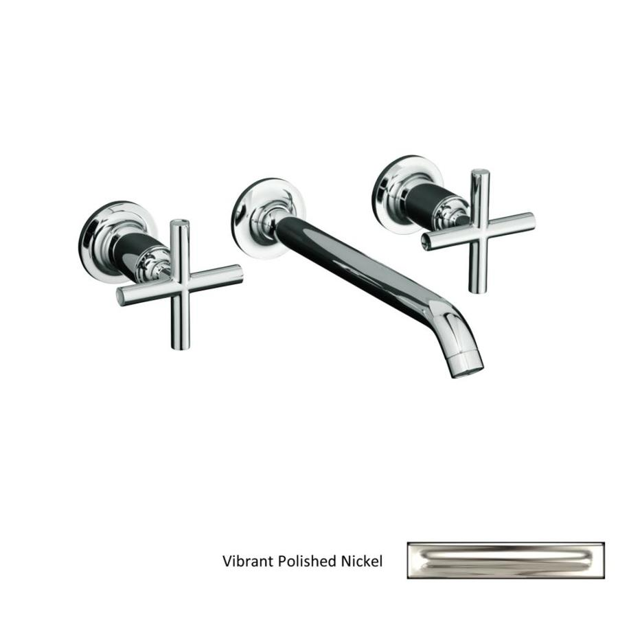 Shop KOHLER Purist Polished Nickel 2 Handle Widespread Bathroom Faucet At Low