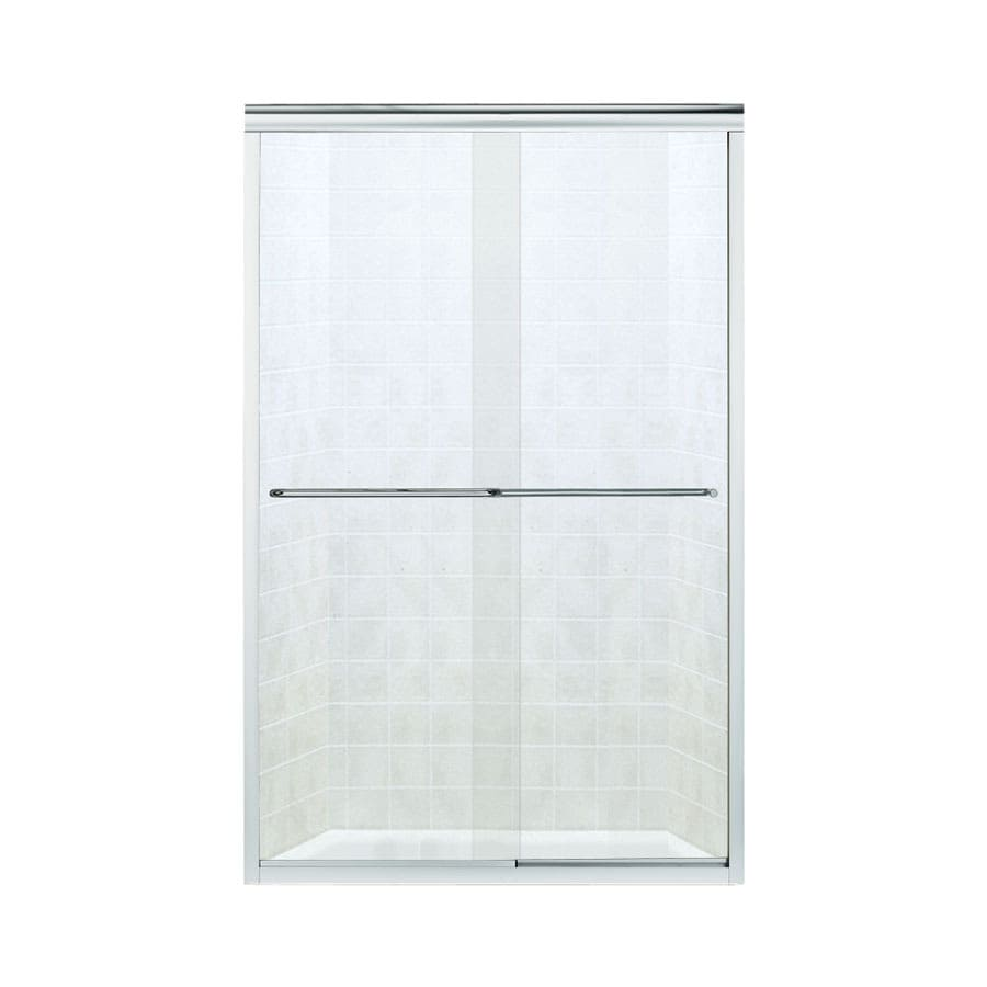 Sterling Finesse 56-in to 57.5-in W x 70.3125-in H Silver Sliding Shower Door
