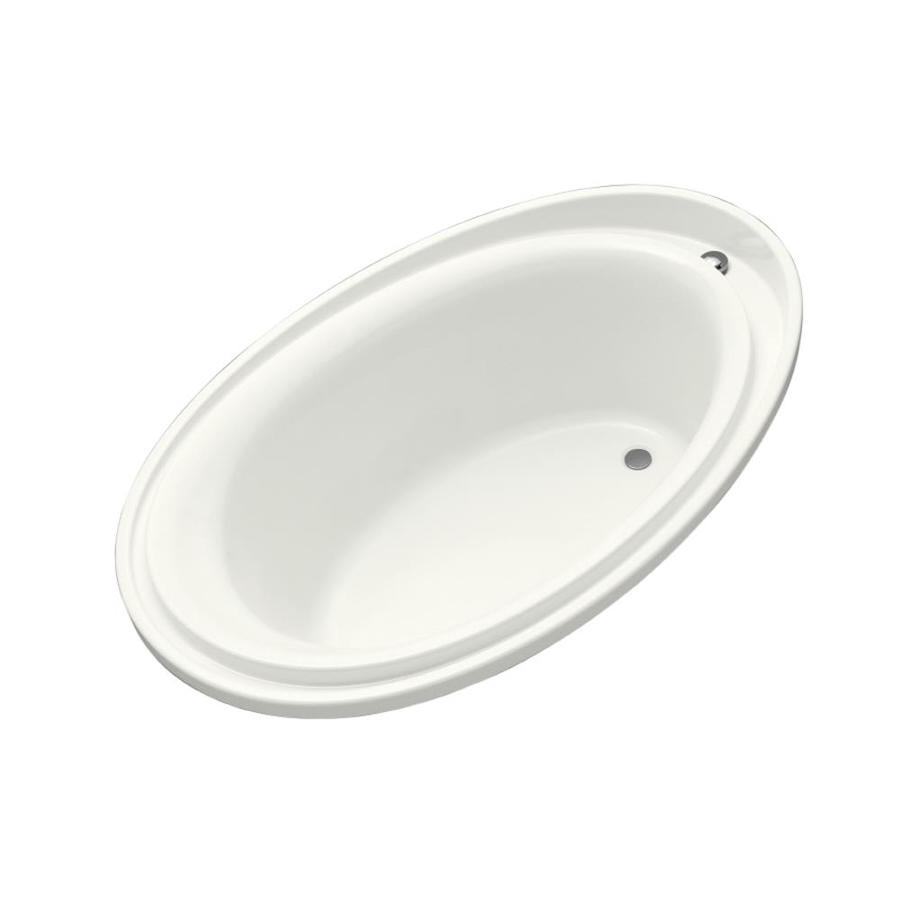 KOHLER Purist 72-in White Acrylic Drop-In Bathtub with Reversible Drain