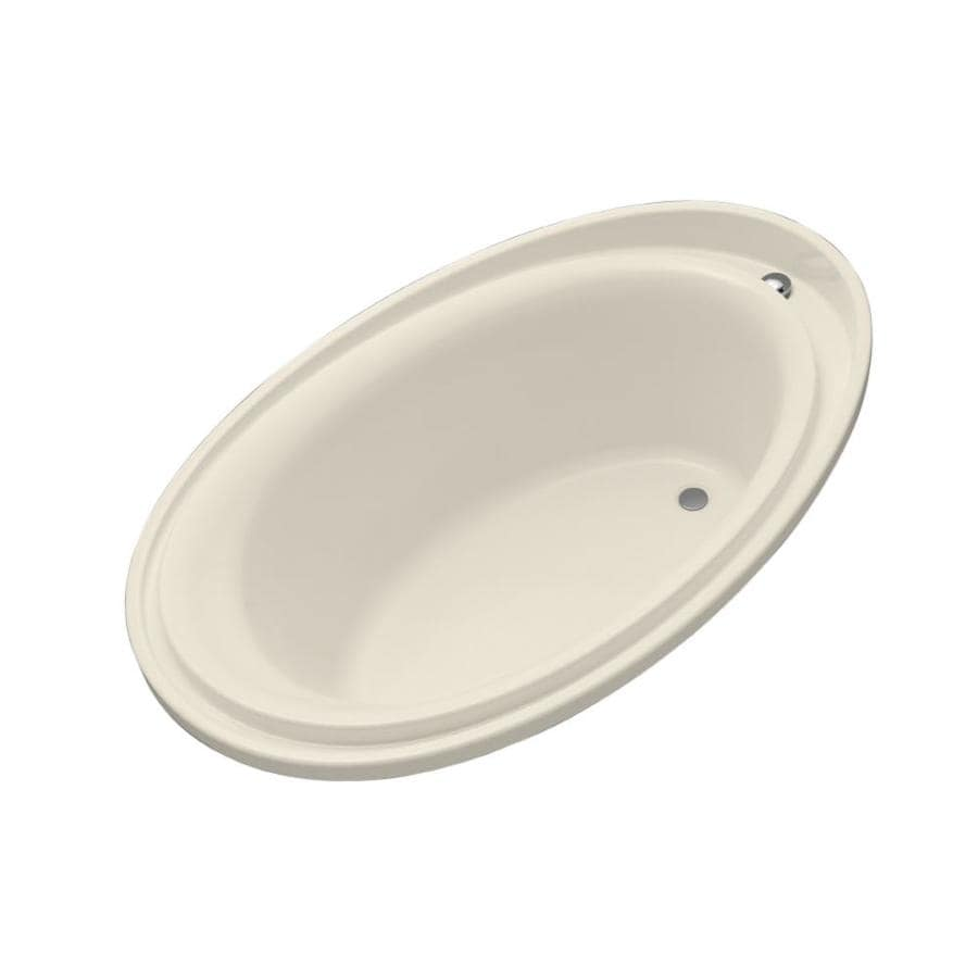 KOHLER Purist 72-in Almond Acrylic Drop-In Bathtub with Reversible Drain