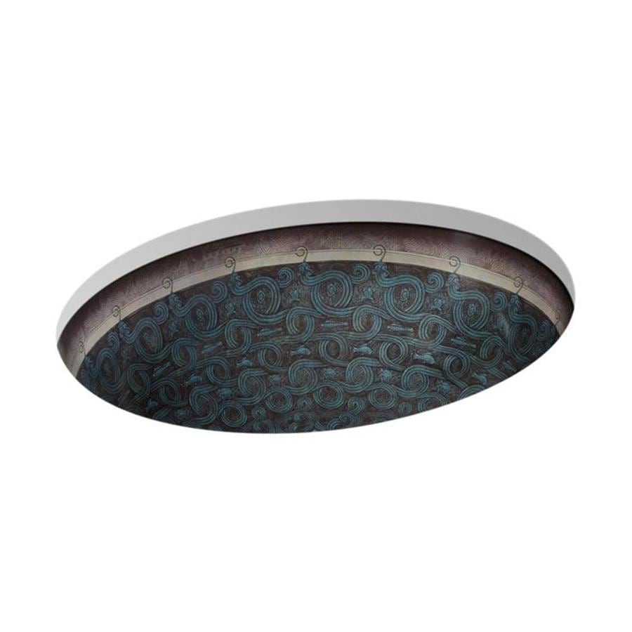 KOHLER Artist Edition Caxton Sandbar Undermount Oval Bathroom Sink with Overflow