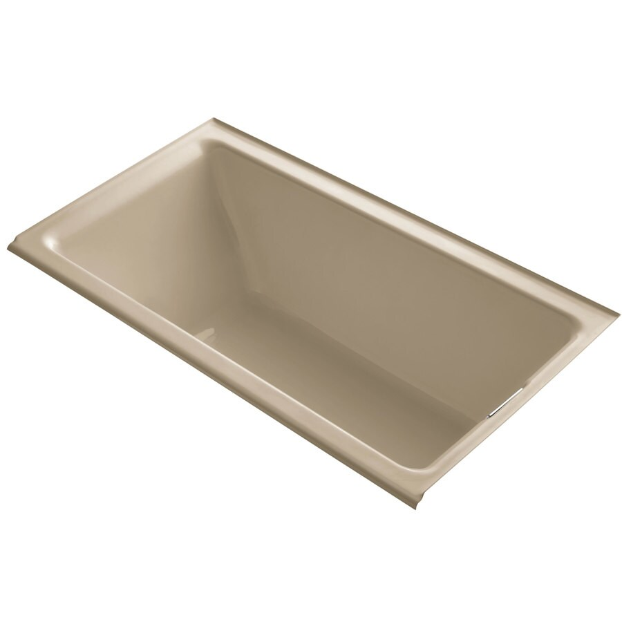 KOHLER Tea-for-Two 66-in Mexican Sand Cast Iron Drop-In Bathtub with Right-Hand Drain
