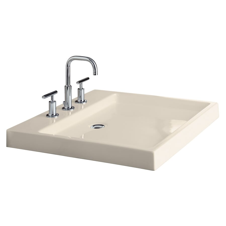 shop kohler purist white clay vessel rectangular 19026