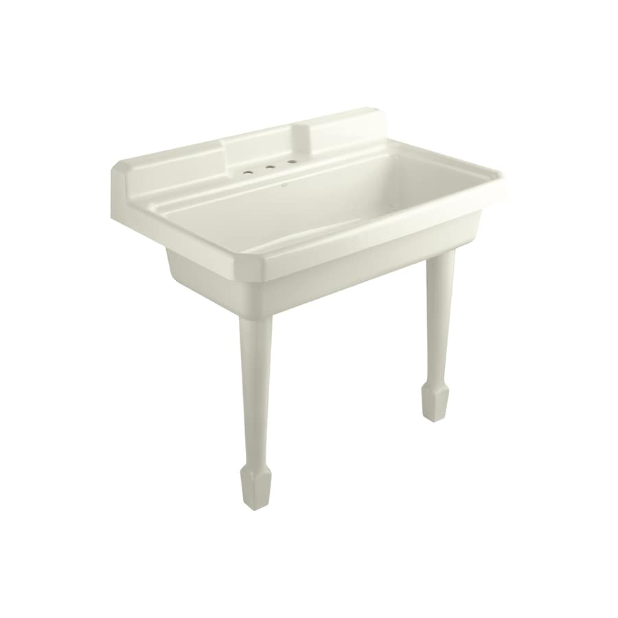 Laundry Sink Wall Mount : ... 28-in x 48-in Biscuit Wall Mount Cast Iron Laundry Sink at Lowes.com