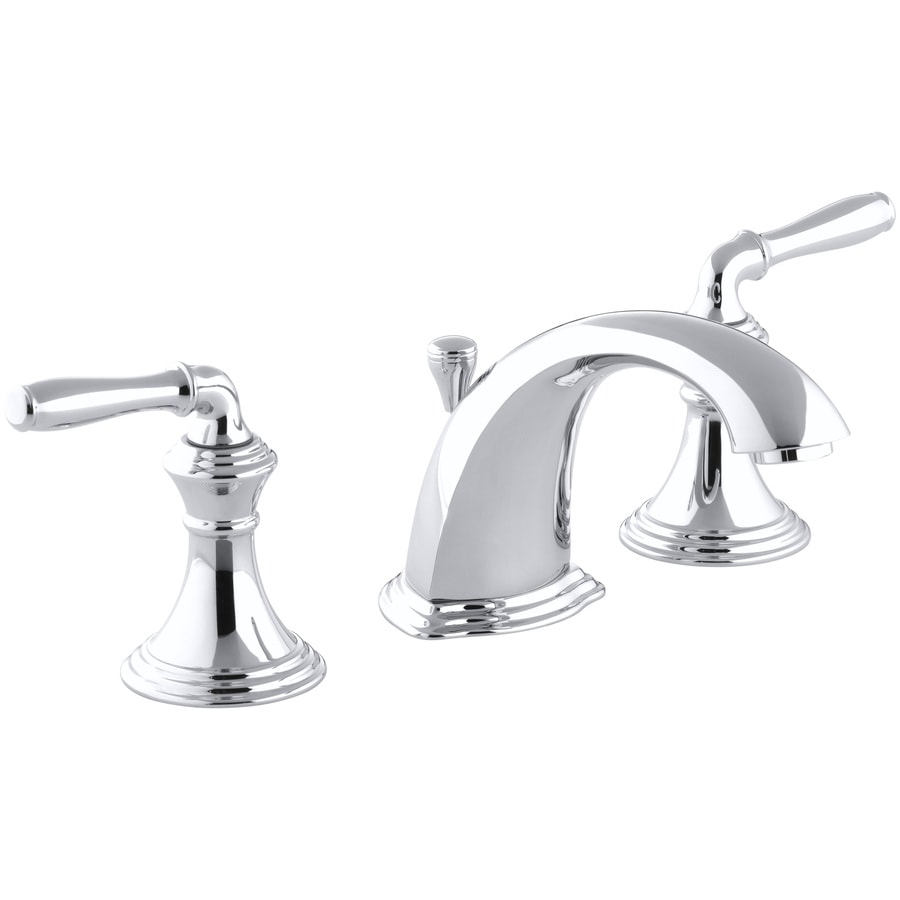 KOHLER Devonshire Polished Chrome 2-Handle Widespread WaterSense Bathroom Faucet (Drain Included)