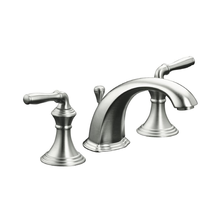 Shop KOHLER Devonshire Brushed Chrome DoubleHandle Bathroom Faucet - Devonshire bathroom faucet