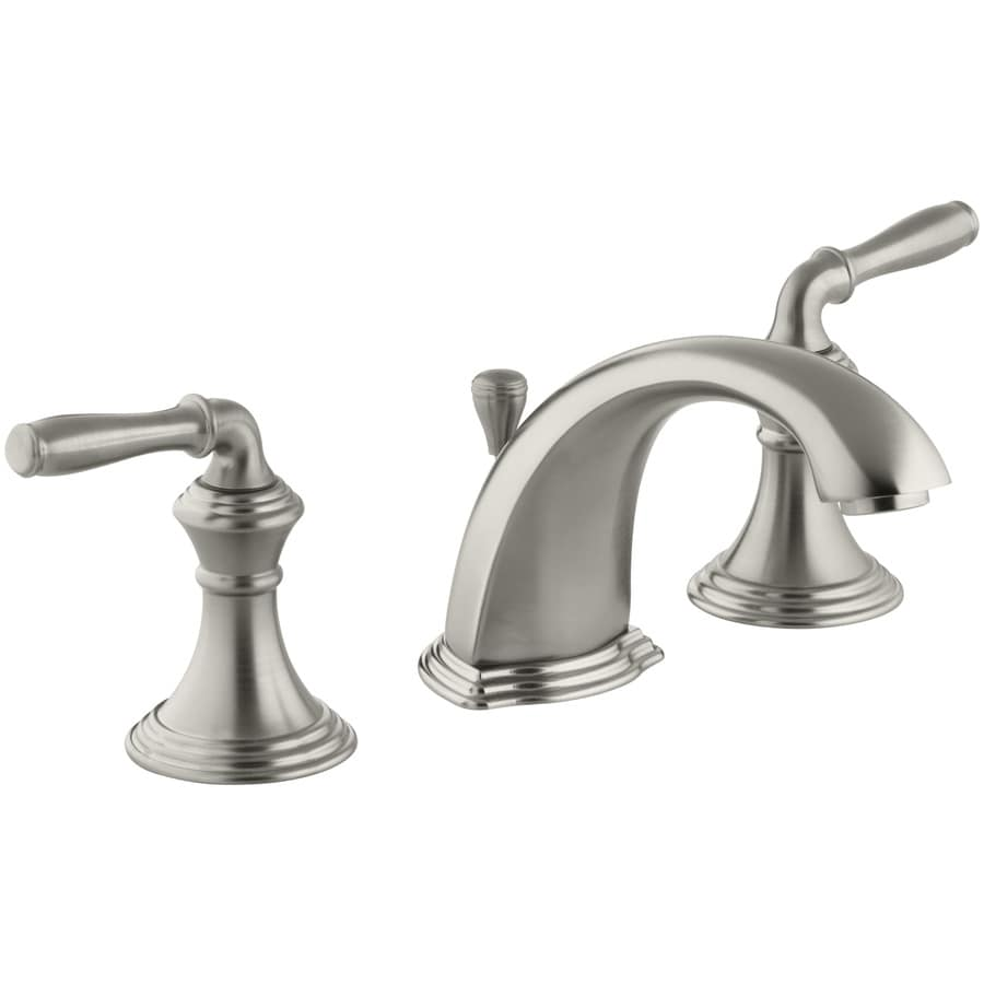 Shop KOHLER Devonshire Vibrant Brushed Nickel 2-handle Widespread ...