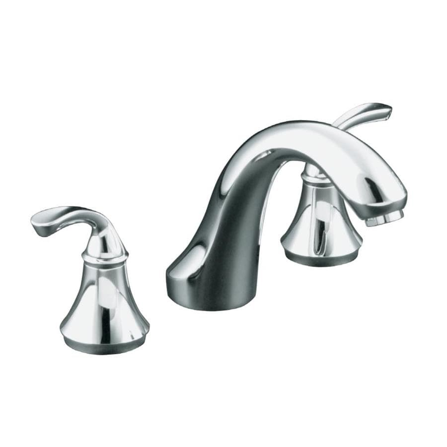 KOHLER Forte Polished Chrome 2-Handle Fixed Deck Mount Tub Faucet