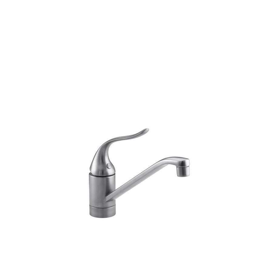 Shop Kohler Coralais Brushed Chrome 1 Handle Low Arc Kitchen Faucet At