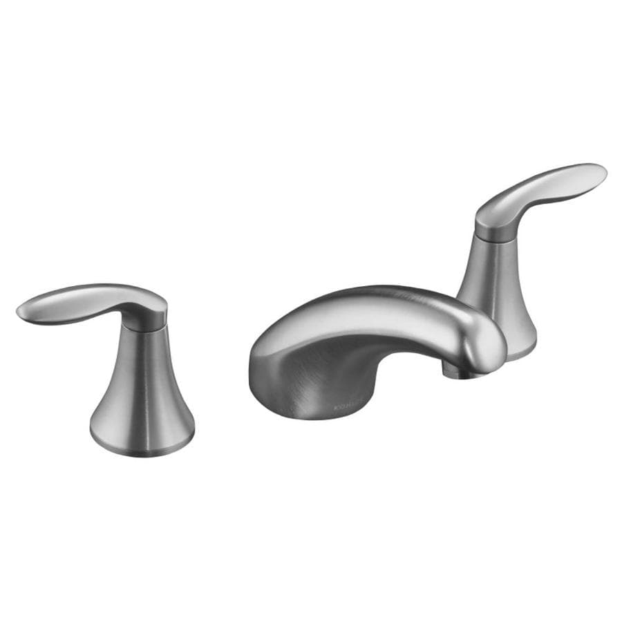 KOHLER Coralais Brushed Chrome 2-Handle Deck Mount Bathtub Faucet