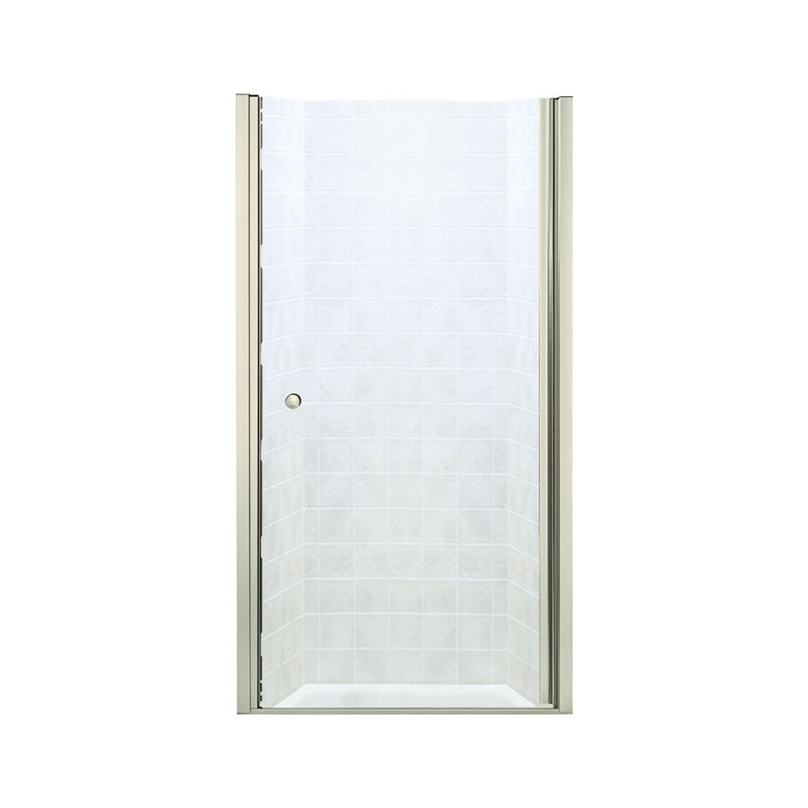 Sterling Finesse 33.75-in to 35.25-in Frameless Hinged Shower Door