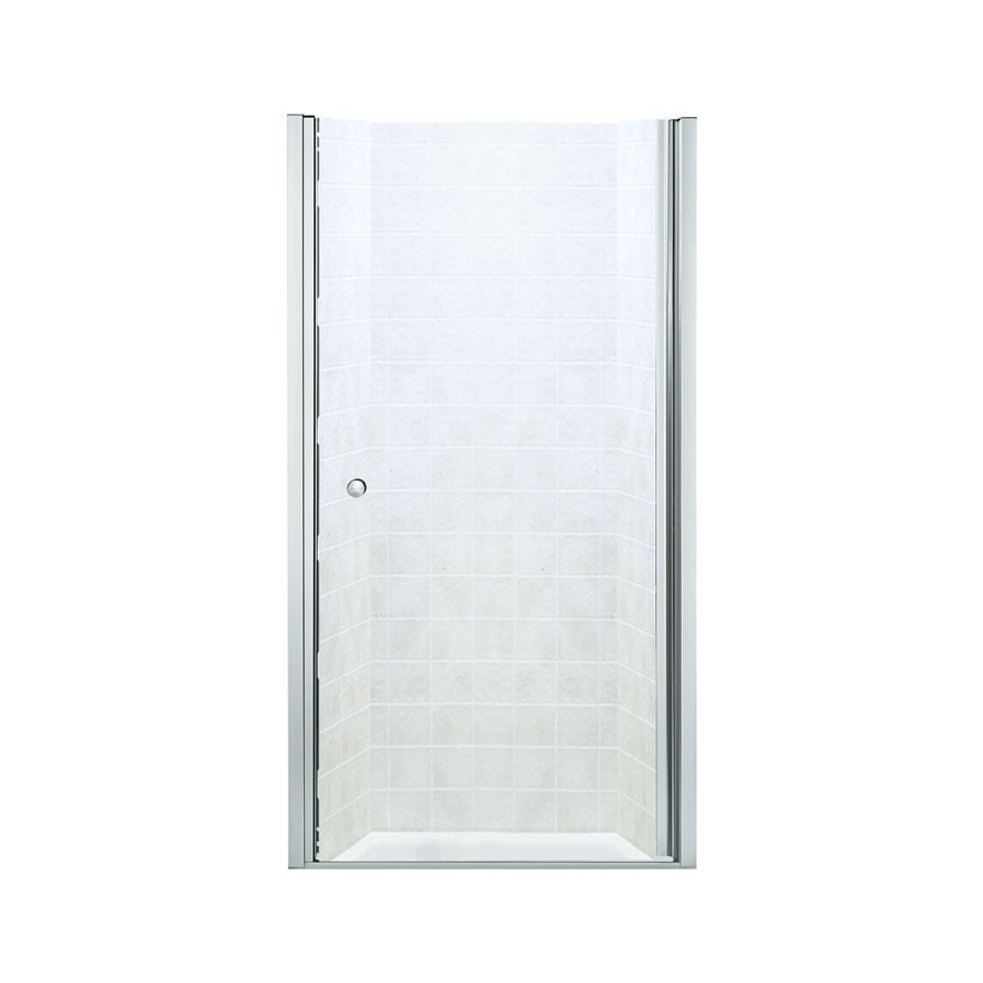 Sterling 37-in to 39-in Frameless Hinged Shower Door