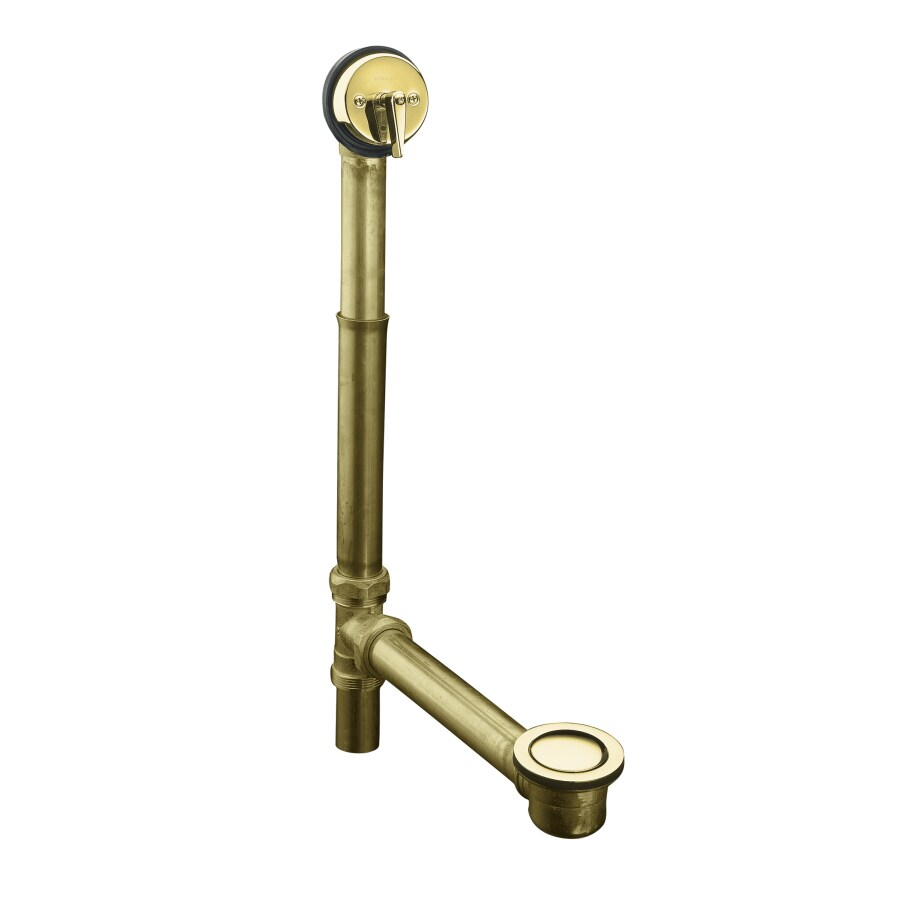 Shop KOHLER Vibrant Polished Brass Tub Drain Kit at Lowes.com