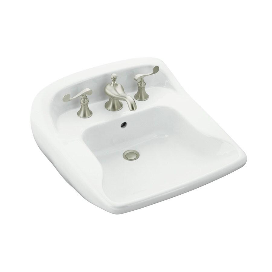 Sterling Worthington White Wall-Mount Rectangular Bathroom Sink