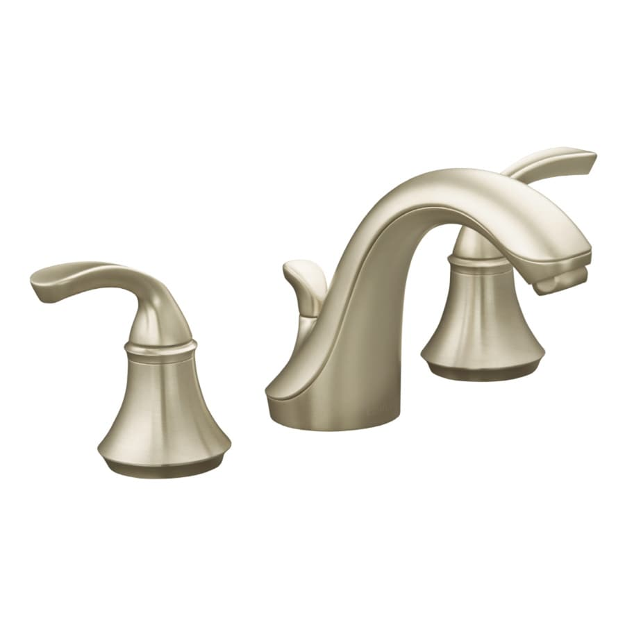 Shop kohler forte vibrant brushed nickel 2 handle - Kohler two tone bathroom faucets ...