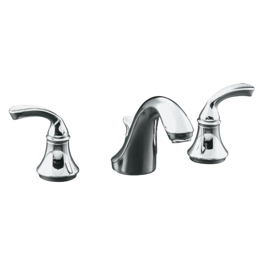Shop KOHLER Forte Polished Chrome 2-Handle Widespread WaterSense ...