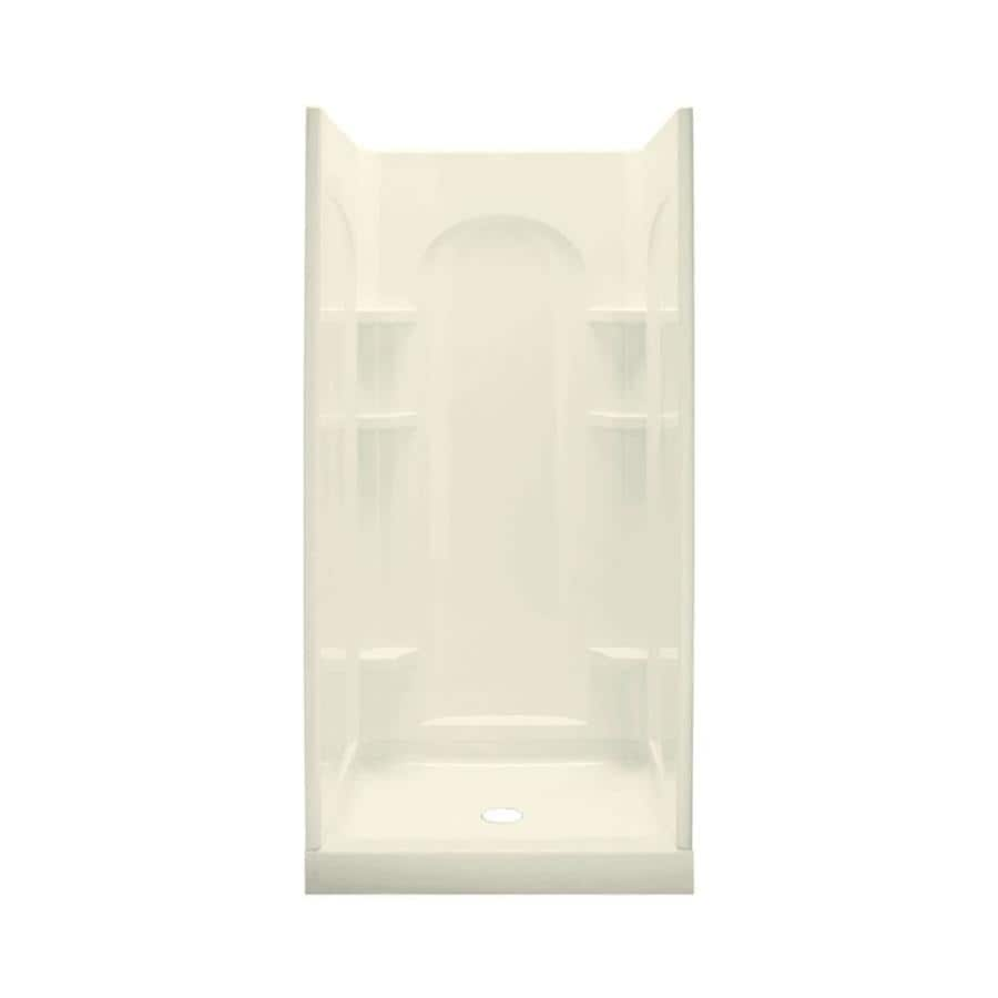 Sterling Ensemble Biscuit Vikrell Wall and Floor 4-Piece Alcove Shower Kit (Common: 34-in x 36-in; Actual: 75.75-in x 34-in x 36-in)