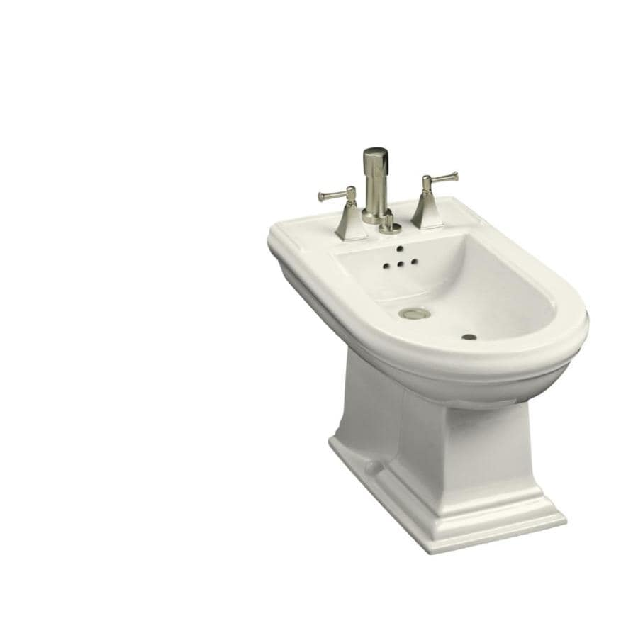Shop Kohler Memoirs 15 In H Biscuit Elongated Bidet At