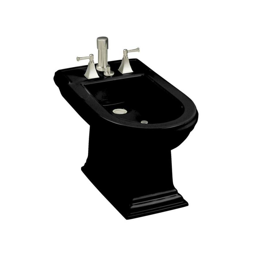 KOHLER Memoirs 15-in H Black Black Elongated Bidet