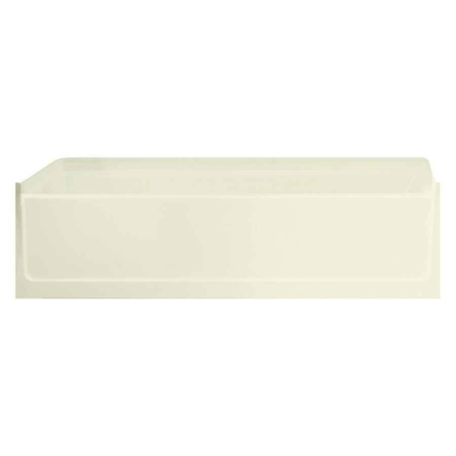 Sterling Advantage 60.25-in Biscuit Vikrell Skirted Bathtub with Left-Hand Drain