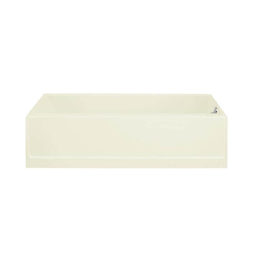 Sterling Advantage 60.25-in Biscuit Vikrell Alcove Bathtub with Right-Hand Drain