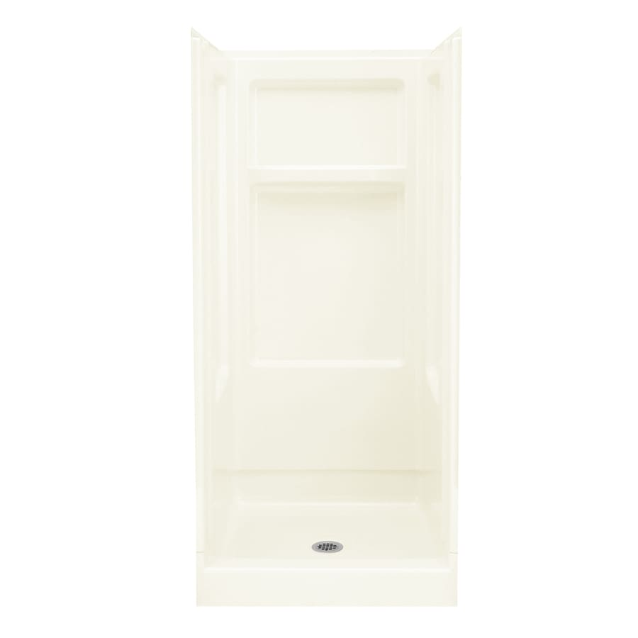 Sterling Advantage Biscuit 4-Piece Alcove Shower Kit (Common: 32-in x 34-in; Actual: 72-in x 32-in x 34-in)