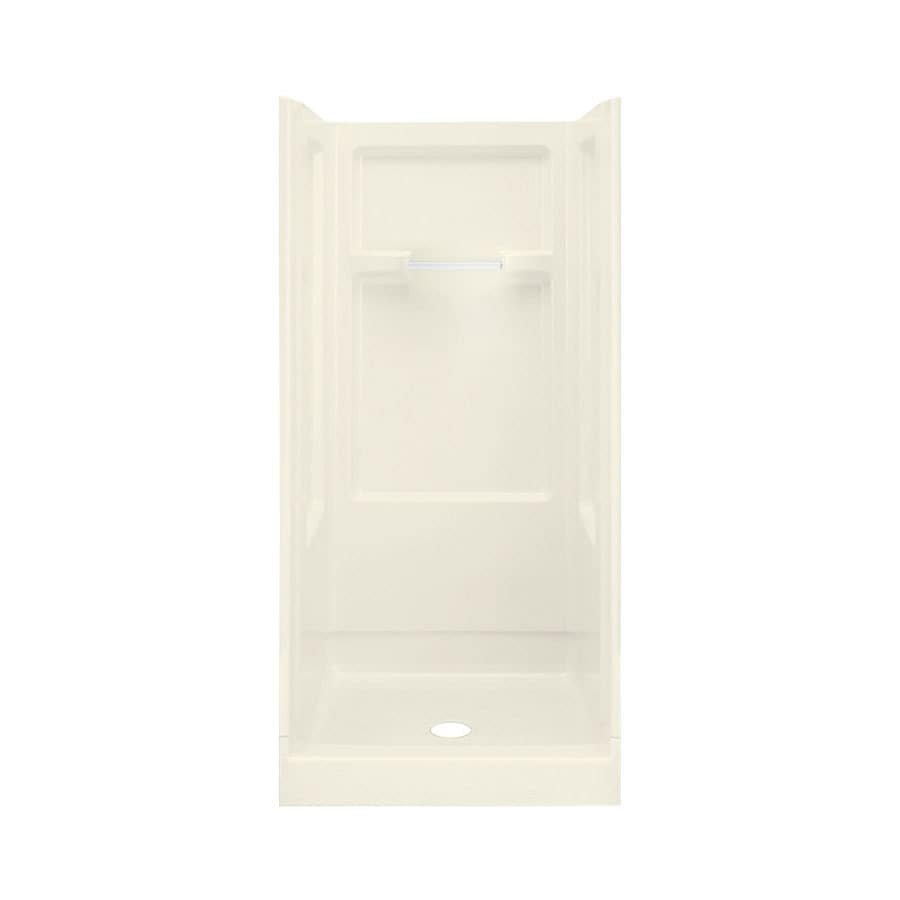 Sterling Advantage Biscuit Fiberglass and Plastic One-Piece Shower (Common: 36-in x 36-in; Actual: 73.25-in x 35.25-in x 36-in)