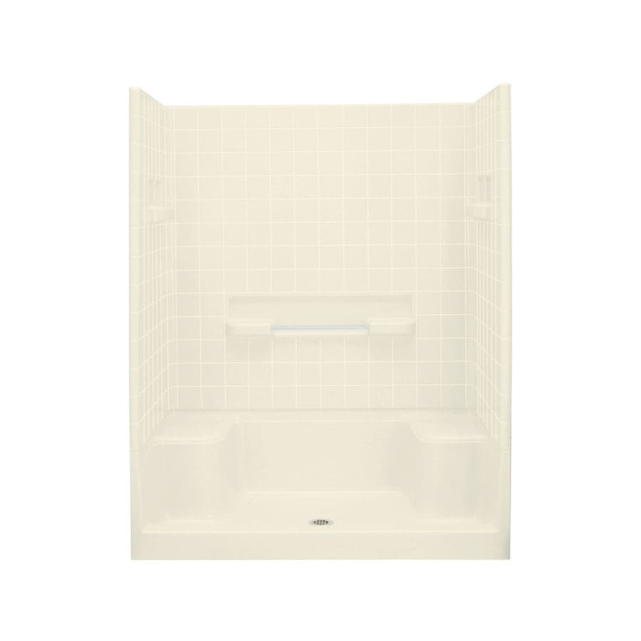 Sterling Advantage Biscuit Wall Vikrell Floor 4-Piece Alcove Shower Kit (Common: 34-in x 60-in; Actual: 76-in x 34-in x 60-in)
