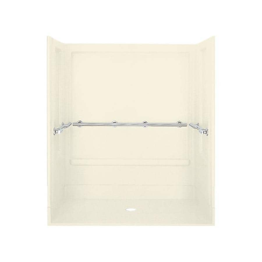 Sterling Roll-in Biscuit Vikrell Wall and Floor 4-Piece Alcove Shower Kit (Common: 40-in x 40-in; Actual: 72-in x 39.375-in x 63.25-in)