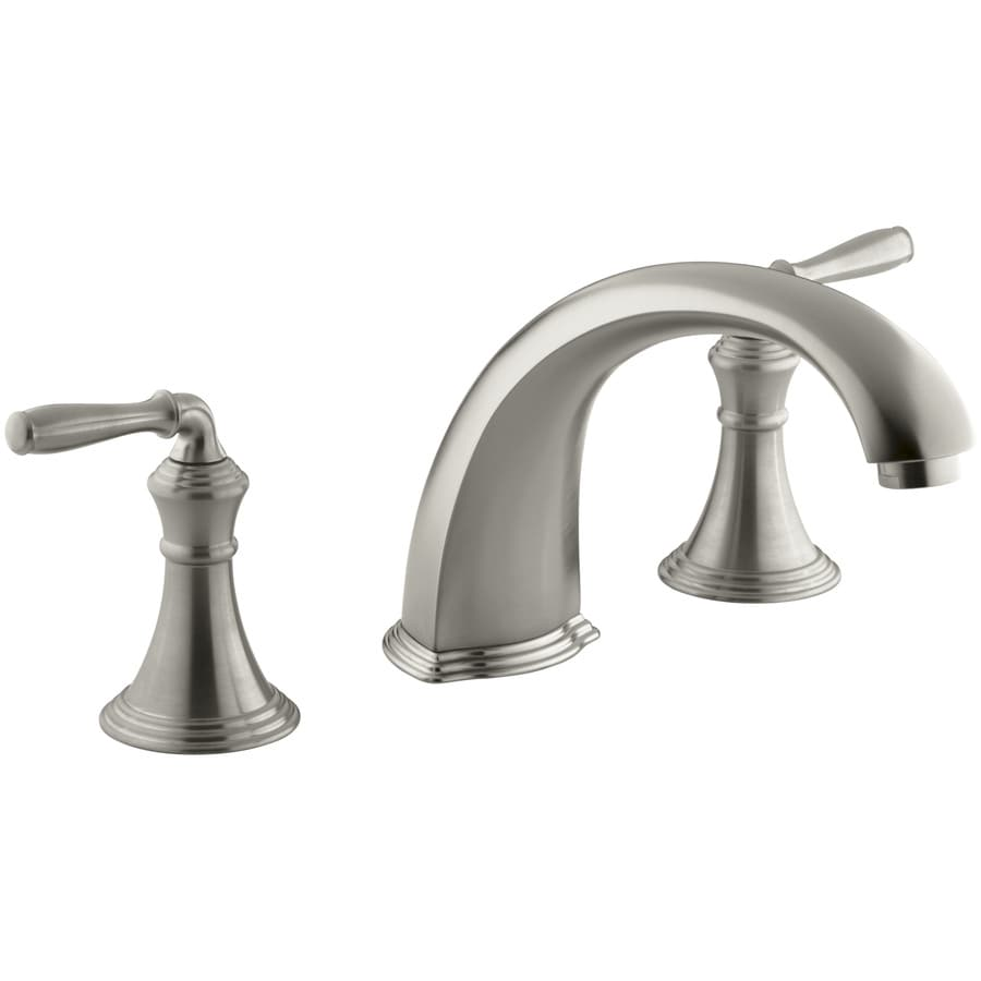 KOHLER Devonshire Vibrant Brushed Nickel 2-Handle-Handle Fixed Deck Mount Bathtub Faucet
