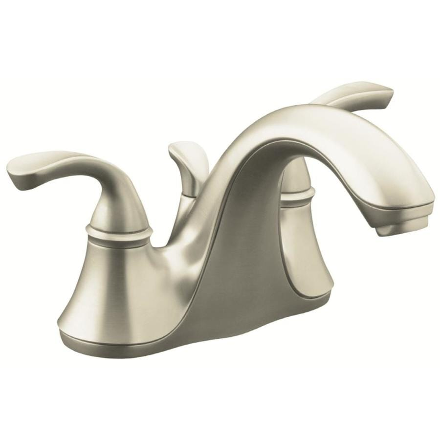 Kohler forte vibrant brushed nickel 2 handle 4 in - Kohler two tone bathroom faucets ...