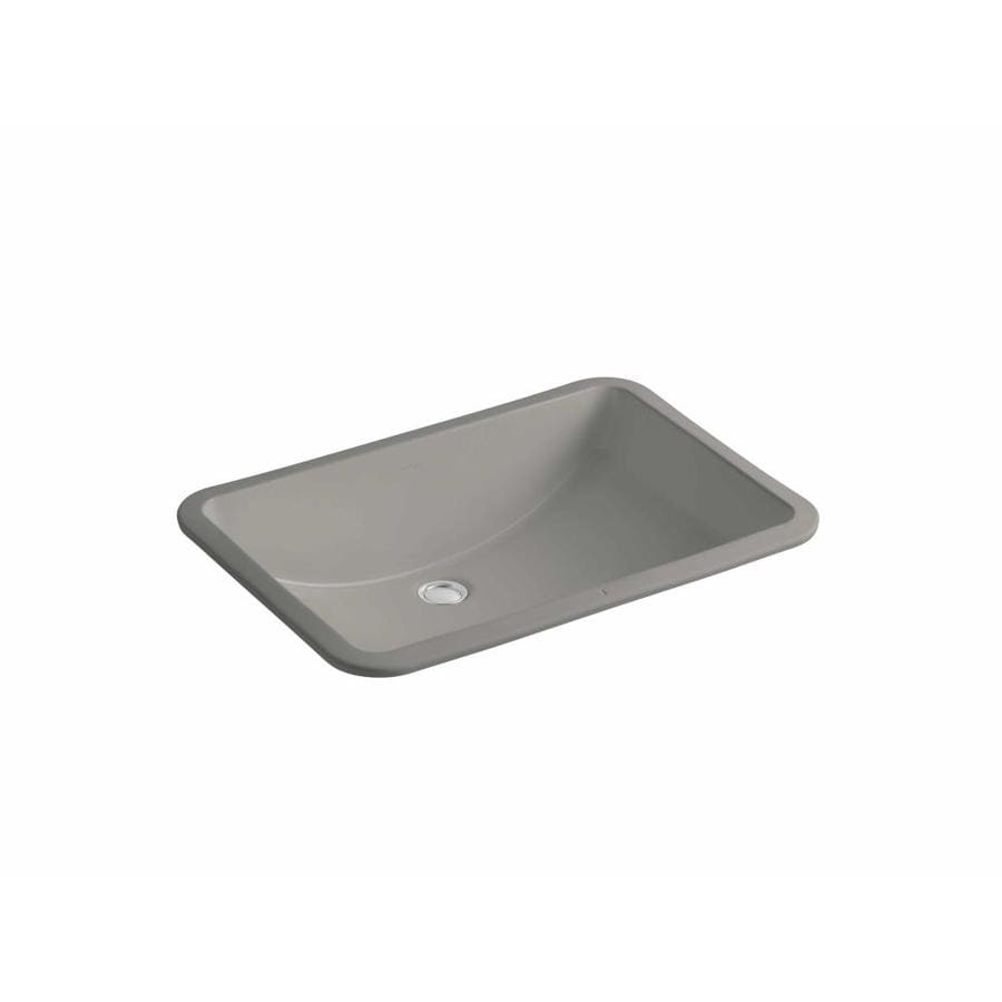 KOHLER Ladena Cashmere Undermount Rectangular Bathroom Sink with Overflow