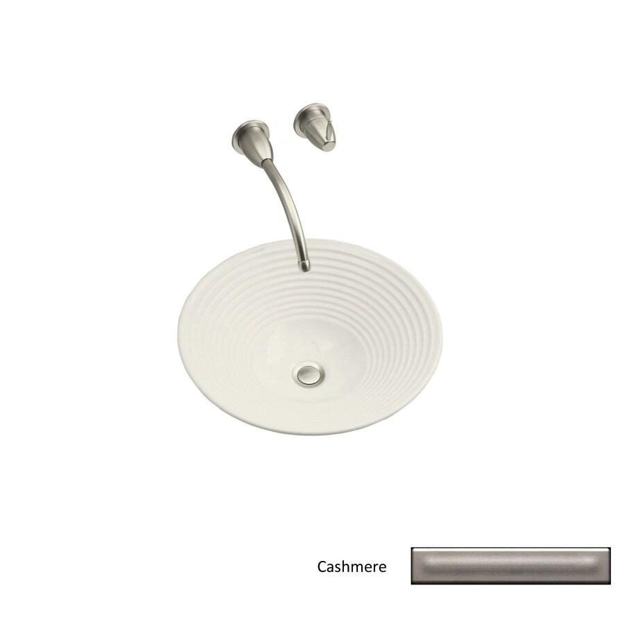 KOHLER Artist Edition Turnings Cashmere Vessel Round Bathroom Sink