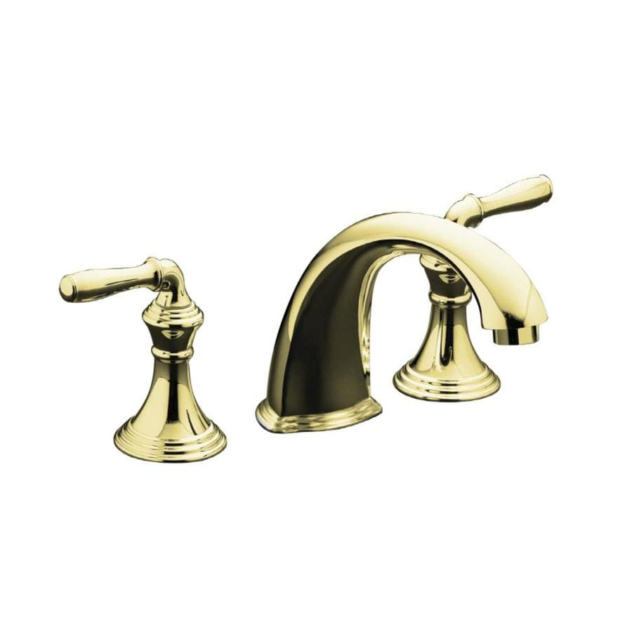 KOHLER Devonshire Vibrant Polished Brass 2-Handle Fixed Deck Mount Bathtub Faucet