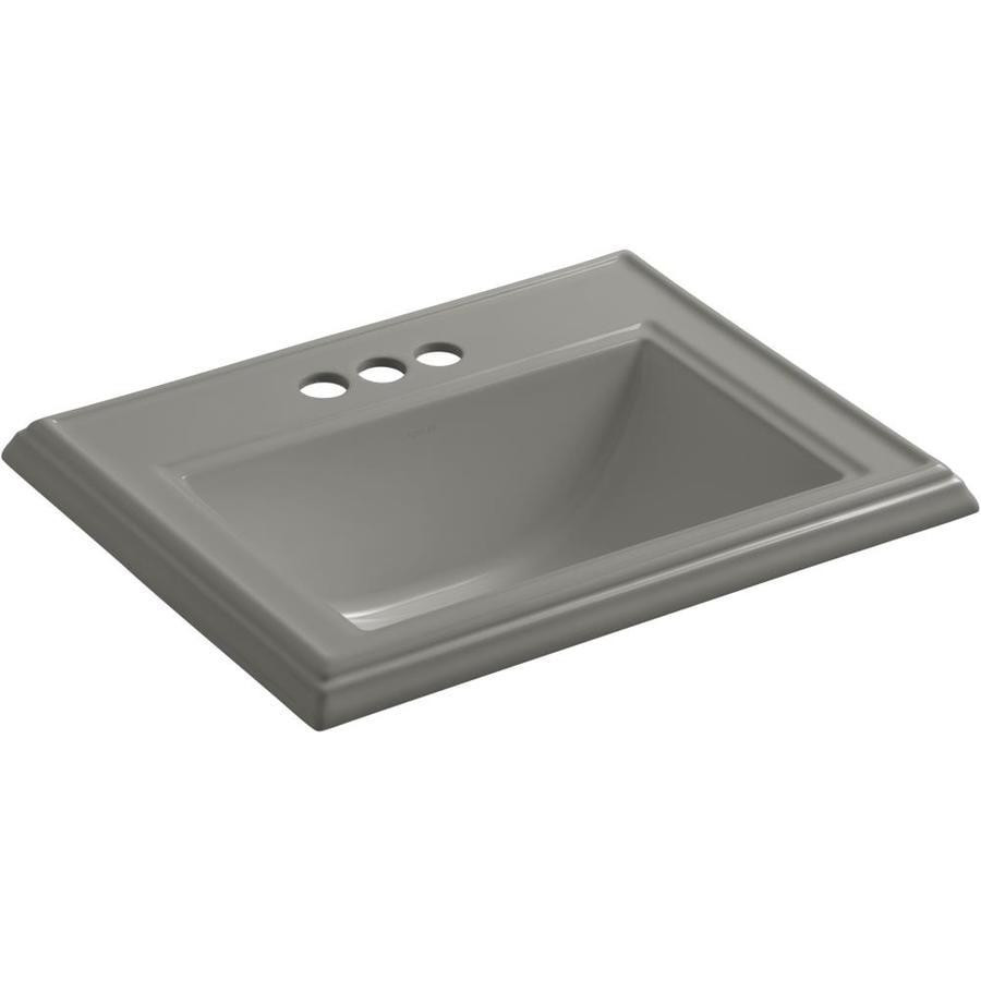 KOHLER Memoirs Cashmere Drop-in Rectangular Bathroom Sink with Overflow