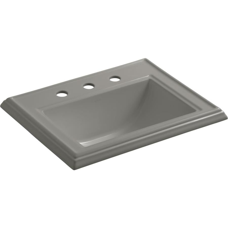 KOHLER Memoirs Cashmere Drop-in Rectangular Bathroom Sink with Overflow