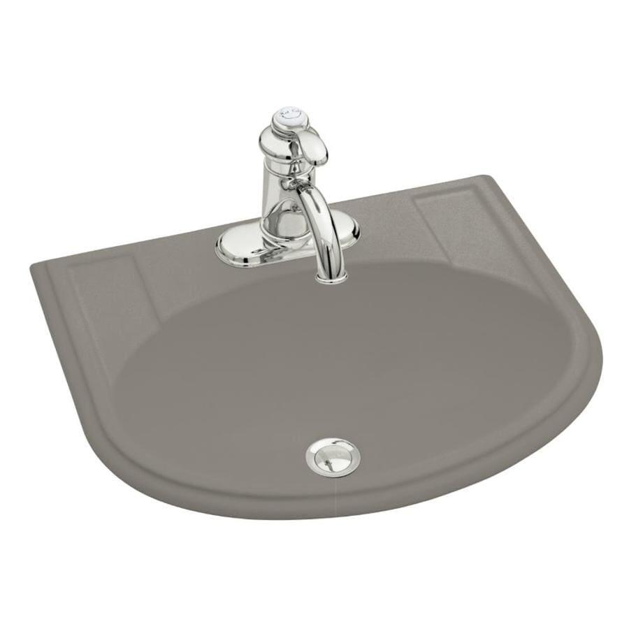 KOHLER Devonshire Cashmere Drop-in Oval Bathroom Sink with Overflow