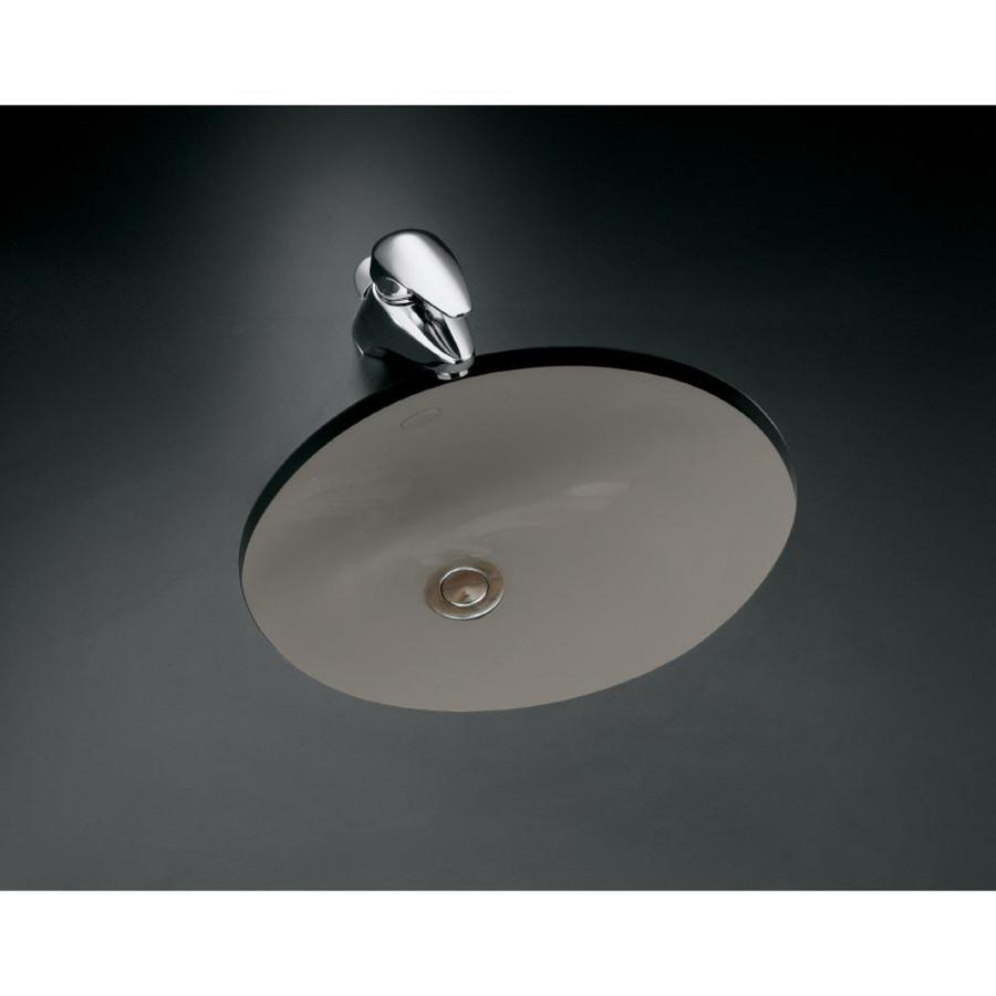 KOHLER Caxton Cashmere Undermount Oval Bathroom Sink with Overflow