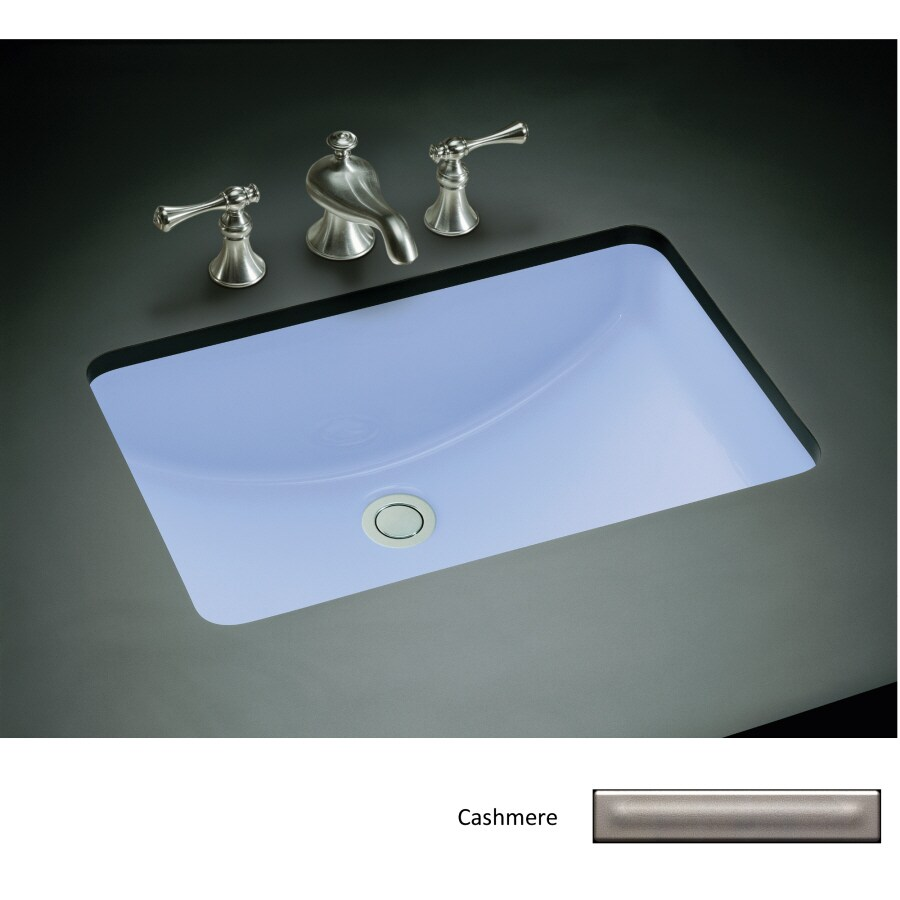 KOHLER Ladena Cashmere Undermount Rectangular Bathroom Sink