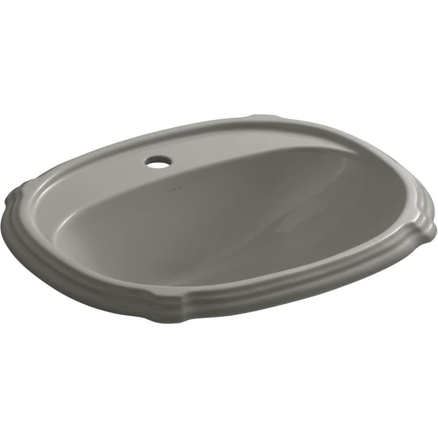 KOHLER Portrait Cashmere Drop-in Oval Bathroom Sink with Overflow