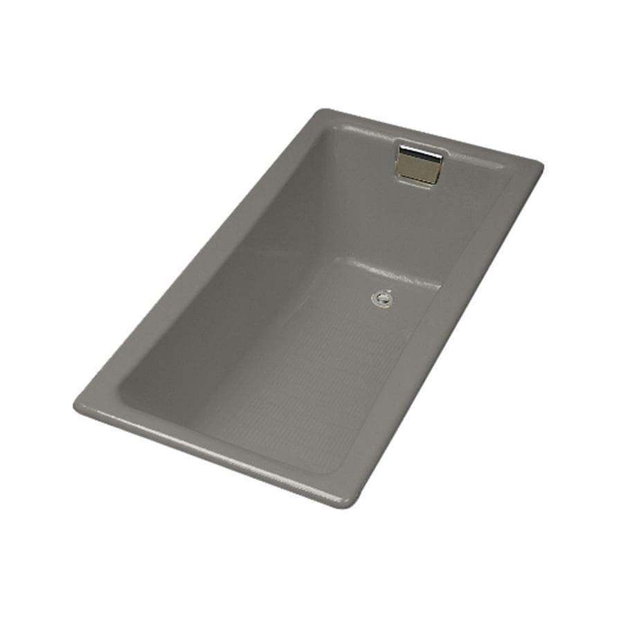 KOHLER Tea-For-Two Cashmere Cast Iron Rectangular Drop-in Bathtub with Reversible Drain (Common: 32-in x 60-in; Actual: 18.25-in x 32-in x 60-in)