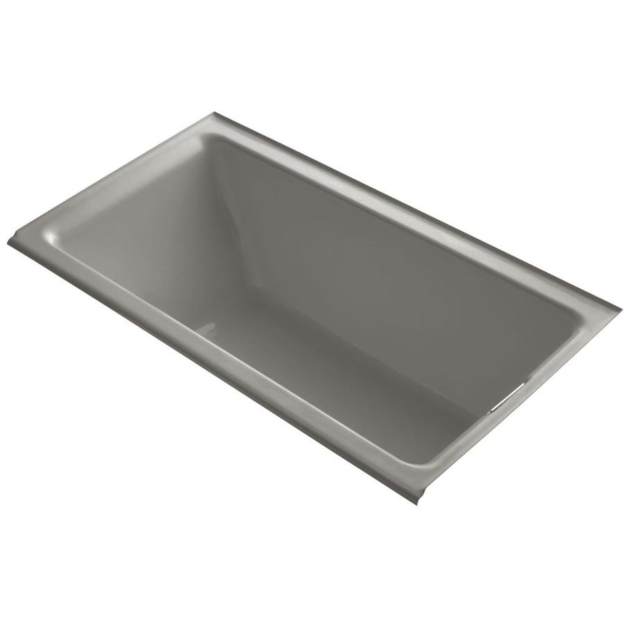 KOHLER Tea-For-Two Cashmere Cast Iron Rectangular Drop-in Bathtub with Reversible Drain (Common: 36-in x 66-in; Actual: 24-in x 36-in x 66-in)