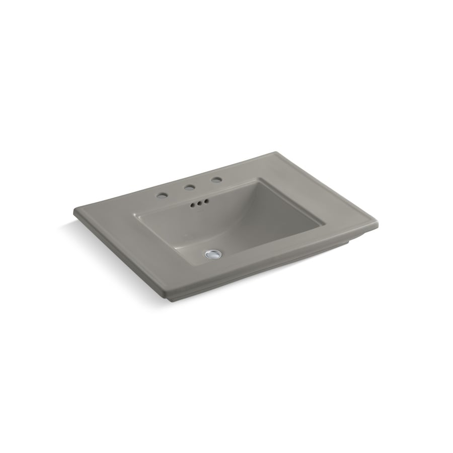 KOHLER Memoirs Cashmere Fire Clay Drop-in Rectangular Bathroom Sink with Overflow