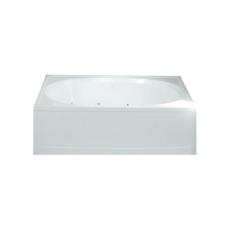 Sterling Tranquility 60-in White Vikrell Alcove Whirlpool with Reversible Drain
