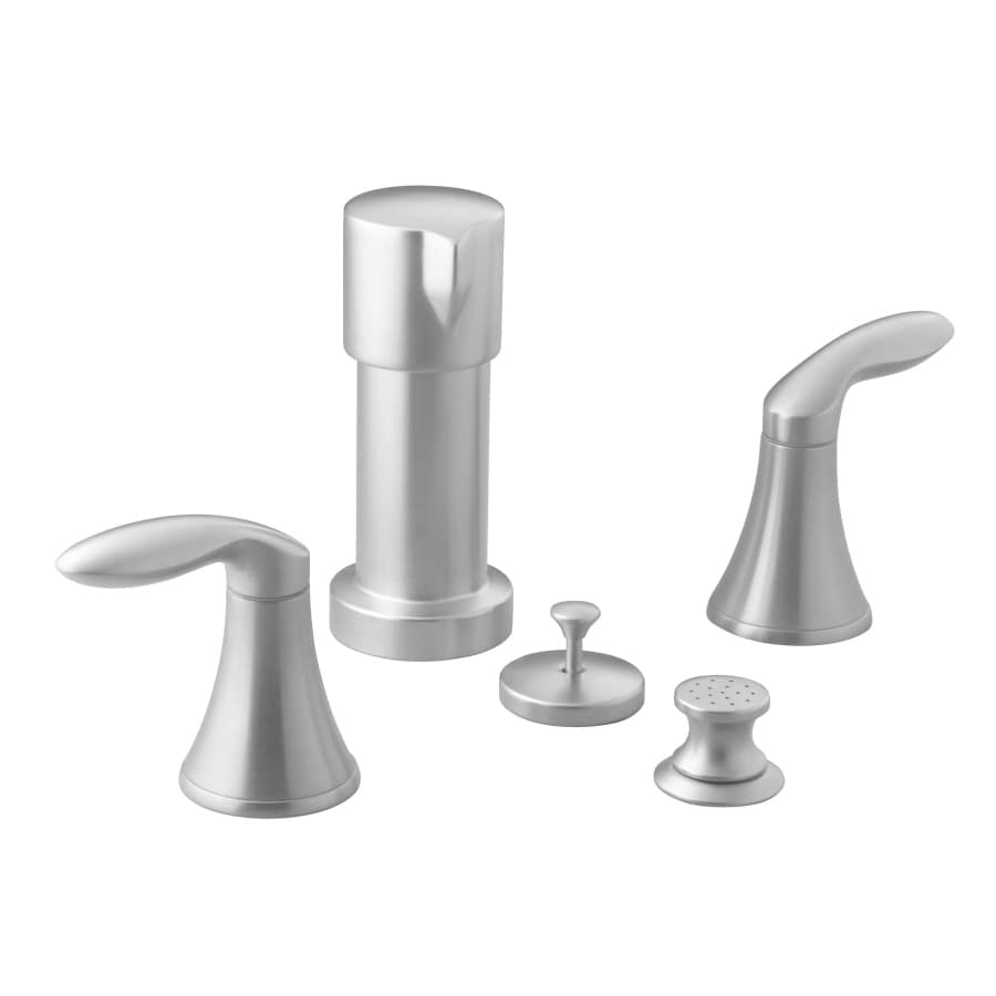 KOHLER Coralais Brushed Chrome Vertical Spray Bidet Faucet with Trim Kit